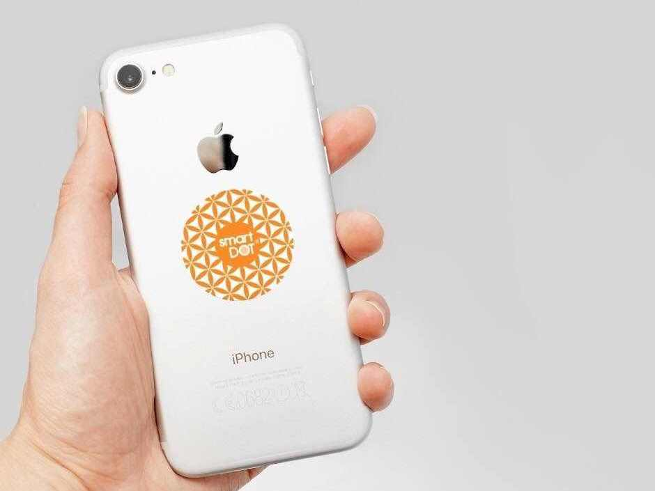 smartdot emf protector on phone